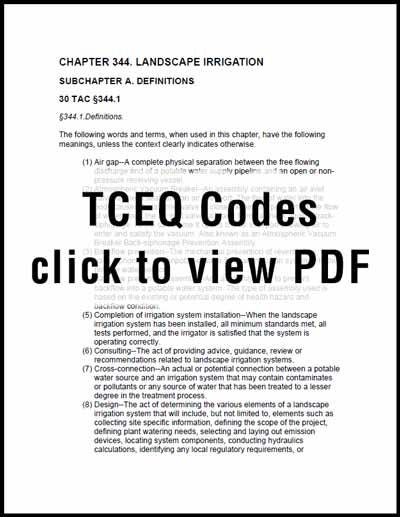 TCEQ Codes PDF
